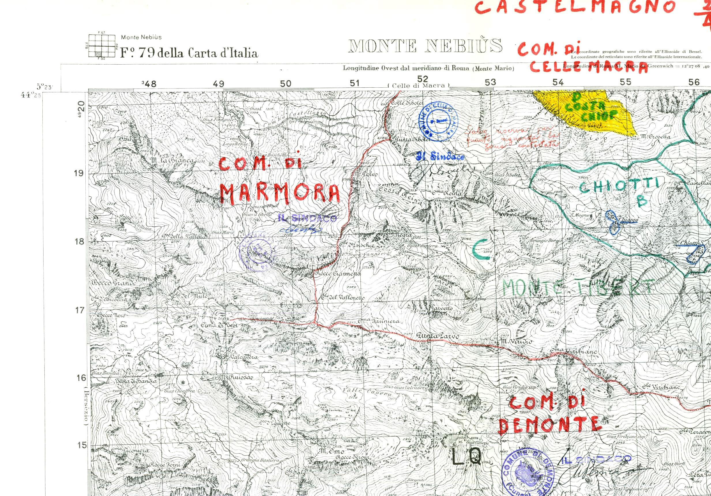 Cartina Militare Piemonte.Castelmagno Oc